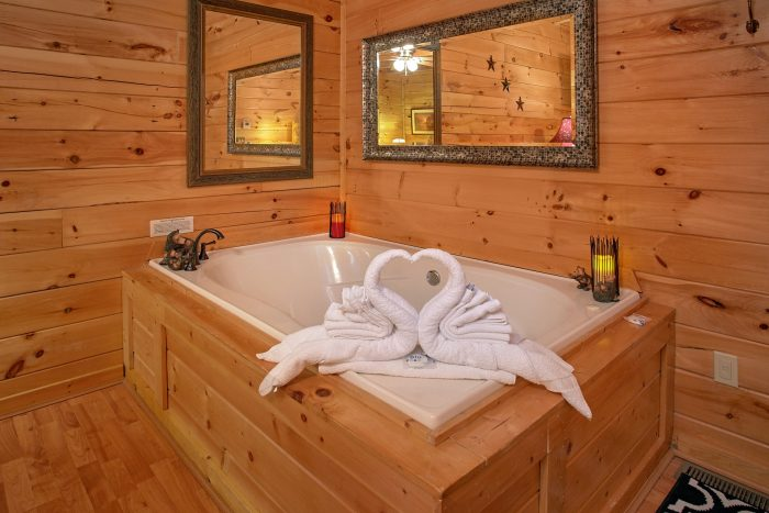 Cabin with Jacuzzi in Master Bedroom - Our Happy Place