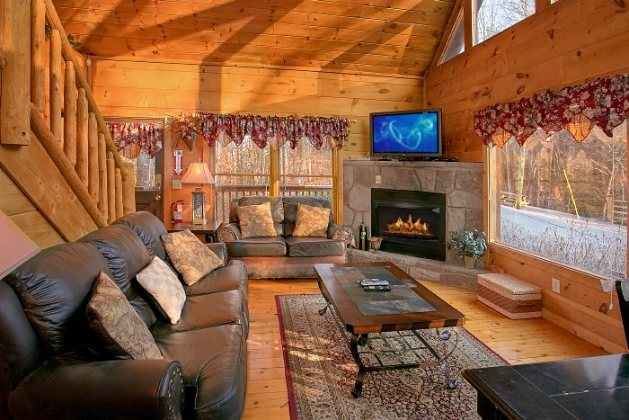 One Bedroom Cabin with Fireplace in Living Area - Owl's Landing