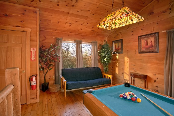 Cabin with Pool Table and Loft Game Room - Owl's Landing