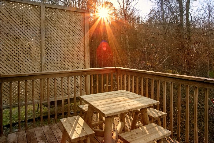Cabin with Hot Tub, Picnic Table and Deck - Owl's Landing
