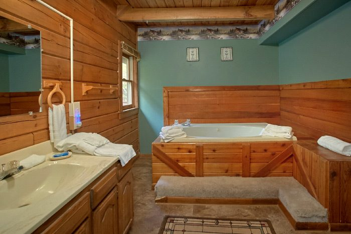 Cabin with oversize jacuzzi tub and Private Bath - Owl's Mountain View