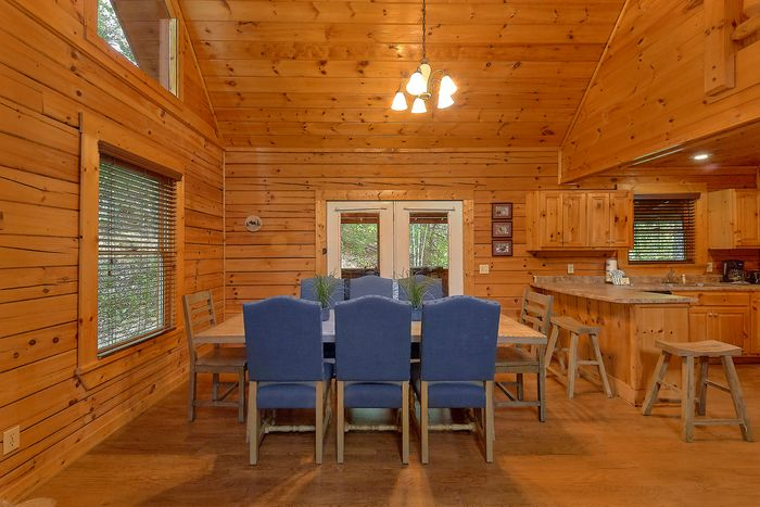 Cabin with Dining Table & Bar Stool Seating - Paws A While