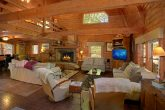 Spacious cabin with Large Stone Fireplace