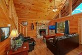 Cozy Living Room in Two Bedroom Cabin