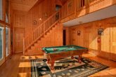 Pool Table Game Room 6 Bedroom Cabin Sleeps 16