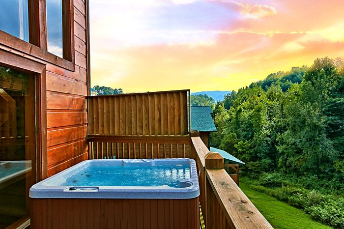 Hot Tub with Privacy Wall - Rest Assured