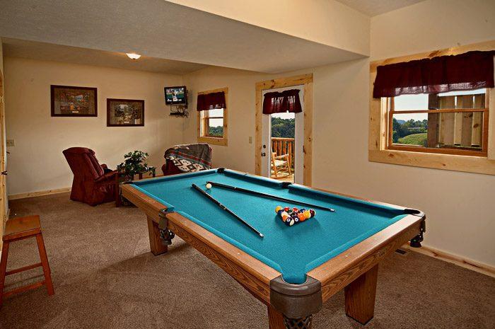 Pool Table in Den - Rocky Retreat