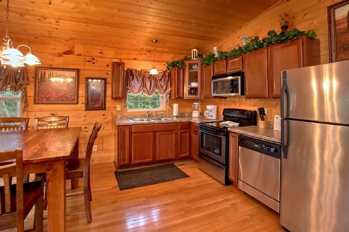Kitchen with Stainless Steel Appliances - Scenic Mountain Pool
