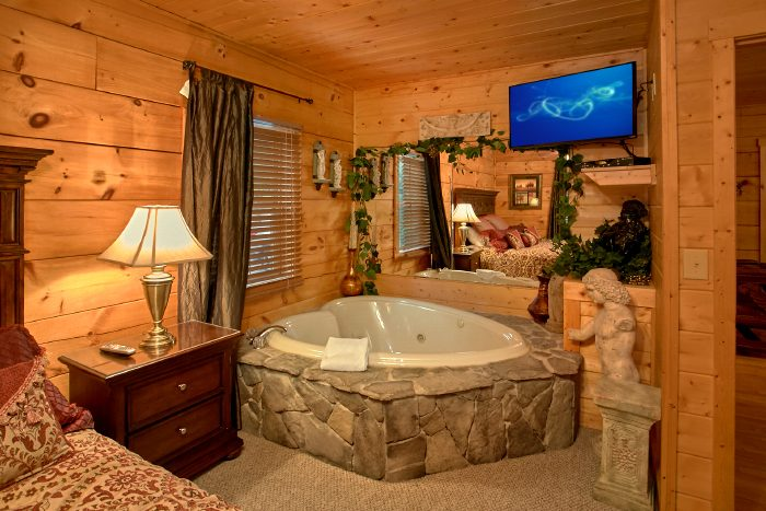 Cabin with Private Master Suite and Jacuzzi - Scenic Mountain Pool