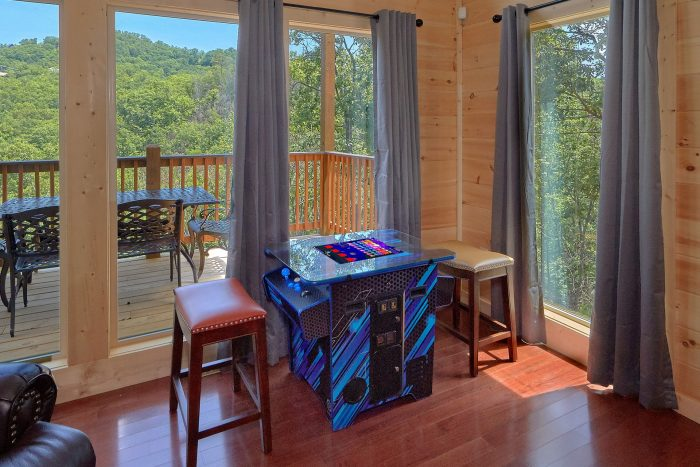 Smoky mountain cabin with private pool and view for Smoky mountain cabin rental with private pool
