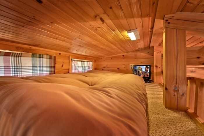 cabin with kid loft and tv secret rendezvous