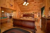 One bedroom cabin with King bed and Game Room