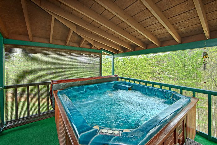 Cabin with Covered Hot Tub - Sleepy Ridge