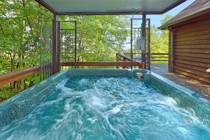 Cabin with private hot tub and mountain view - Smokeys Dream Views