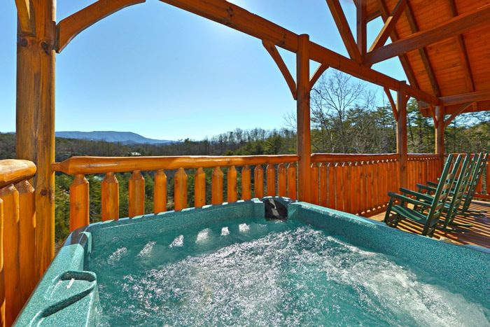 Hot Tub with Mountian Views - Smokies View