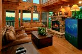 4 bedroom cabin with stone fireplace and view