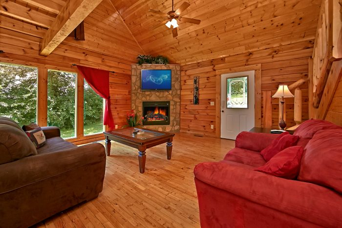 Rustic Cabin with a Living Room Fireplace - Sparkling Dreams