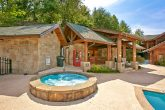 Cabin with resort hot tub and outdoor pool