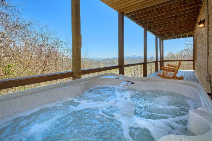 Private Hot Tub Day and Night Views - Sugar Bear View