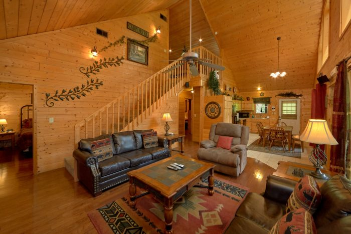 2 Bedroom cabin with Flat Screen HD TV - Sweet Seclusion