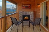 Outdoor Fireplace on Deck 2 Bedroom Cabin