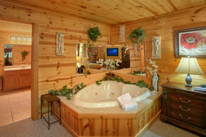 Cabin with 2 Bedrooms, 2 Bathrooms and Jacuzzi - Swimming Hole