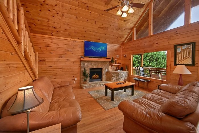7 bedroom cabin with blu-ray DVD - Timber Lodge