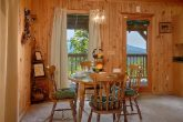 Dining Area with Mountain View in Rustic Cabin