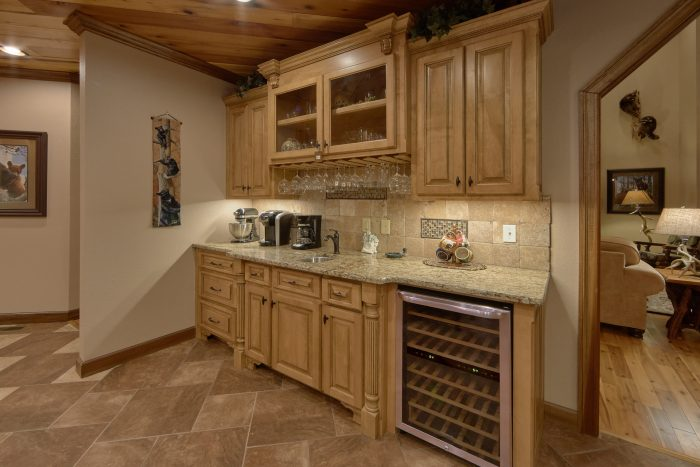 Luxurious Kitchen with Wine Bar and extra sink - Villa at Laurel Cove