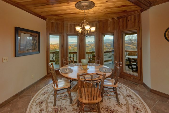 Breakfast Nook overlooking Mountain View - Villa at Laurel Cove